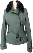 Adolfo Dominguez Green Cotton Leather Jacket for Women