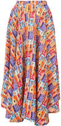 Lhd Printed Midi Skirt