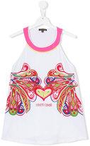 Roberto Cavalli logo print vest top - kids - Cotton/Spandex/Elastane - 14 yrs