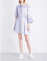 Limi Feu Dropped-shoulder cotton-poplin shirt dress