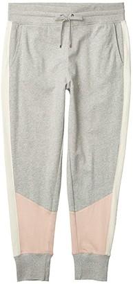 Lauren Ralph Lauren Three Tone French Terry Pants (Pearl Grey Heather/Pink Hydrangea/Mascarpone Cream) Women's Casual Pants