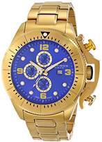 Akribos XXIV Men's AK724YG Multifunction Swiss Quartz Movement Watch with Black Dial and Yellow Stainless Steel Bracelet