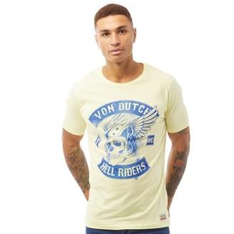 Von Dutch Mens V-Reaper Graphic T-Shirt Lemon