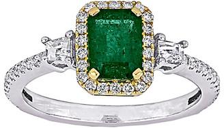 Rina Limor Fine Jewelry 14K Two-Tone 1.34 Ct. Tw. Diamond & Gemstone Ring