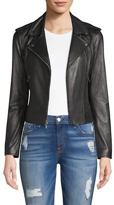 L'Agence The Biker Cutwork Leather Moto Jacket