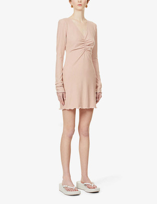 Reformation Jennie V-neck stretch-jersey mini dress