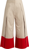 Palmer Harding PALMER/HARDING Contrast-cuff side-slit culottes