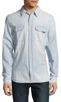 Jean Shop Classic-Fit Long-Sleeve Cotton Shirt