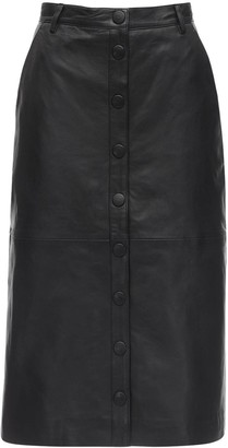Remain Bellis Leather Midi Skirt