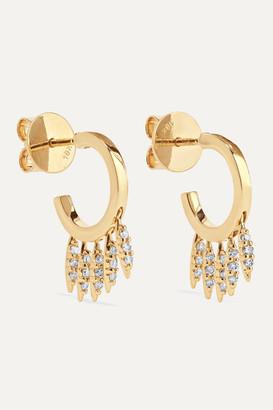 Ileana Makri Grass Clipping 18-karat Gold Diamond Earrings - one size