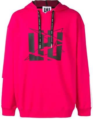 Les Hommes Urban printed hoodie
