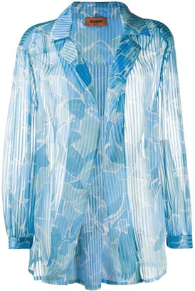 Missoni Abstract-Print Pleated Blouse