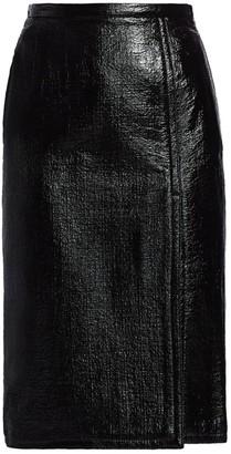 No.21 Patent Side Slit Midi Pencil Skirt