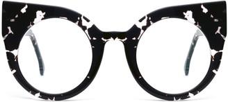 Supernormal Curious Patterned Black Computer Glasses