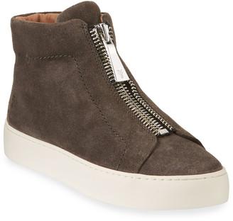 Frye Lena Suede Zip High-Top Sneakers