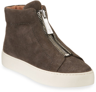 Frye Lena Suede Zip High-Top Sneakers