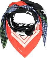 Givenchy Patchwork and Signature Printed Cotton and Silk Wrap