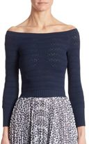 Oscar de la Renta Off-The-Shoulder Top