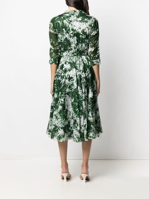 Samantha Sung Ivy Print Shirt Dress