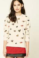 Forever 21 FOREVER 21+ Sushi Print Sweatshirt