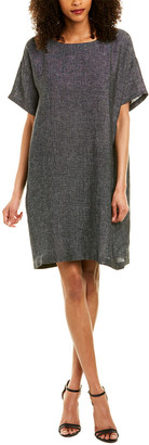 Eileen Fisher Linen-Blend Shift Dress