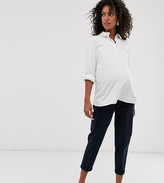 Asos DESIGN Maternity chino trousers with under band