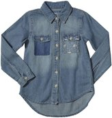 E-Land Kids Demin Shirt (Toddler/Kid) - Chambray-6