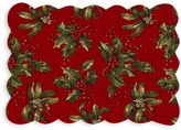 Bed Bath & Beyond Reversible Mistletoe/Stripe Quilted Placemat