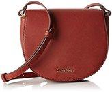 Calvin Klein Womens Marissa Saddle Bag, 227, Os Messenger Bag