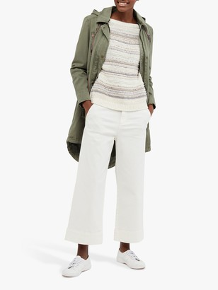 White Stuff Thea Wide Leg Cropped Trousers, White