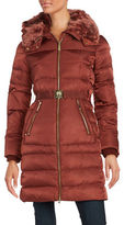 Vince Camuto Faux Fur-Trimmed Down Puffer Coat