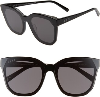 DIFF Gia 62mm Oversize Square Sunglasses