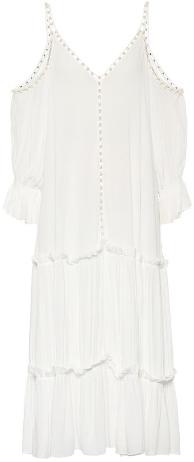 Jonathan Simkhai Embellished crepe dress