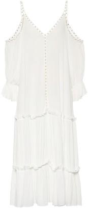 Jonathan Simkhai Embellished crepe dress