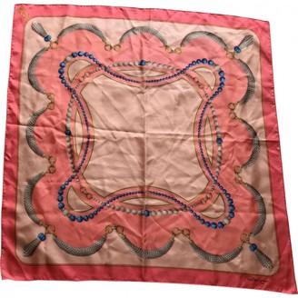 Cartier Pink Silk Scarves