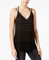 Bar III Bead-Striped Double-Strap Top, Only at Macy's