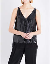 Stella McCartney Sutton sleeveless silk and sequin top