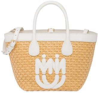 Miu Miu Straw and leather bag