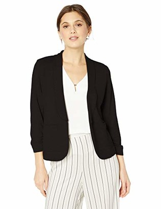 My Michelle Leighton By Womens Casual Wear to Work Open Front Blazer Jacket