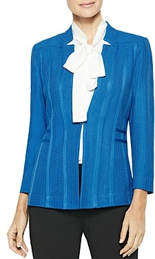 Misook Notched Collar Textured Knit Blazer