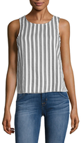 Lucca Couture Striped Lace Up Shell