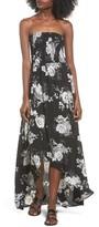 Socialite Women's Smocked Strapless Maxi Dress