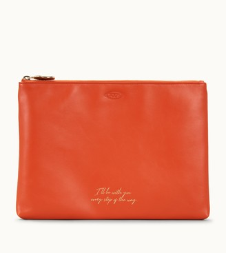 Tod's Flat Pouch in Leather Large