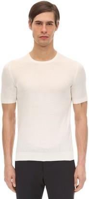 Tagliatore Crewneck Silk T-Shirt