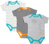 Cutie Pie Baby Aqua & Gray 'Hello Cutie' Bodysuit Set - Infant