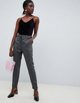 Vero Moda Glitter Tailored Trouser-Silver
