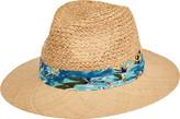 San Diego Hat Company Raffia Braid Fedora with Bao Straw Brim RHF6140 (Men's)
