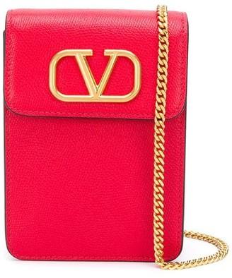 Valentino Chain-Strap Logo Crossbody Bag