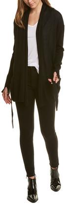 Halston Draped Silk & Cashmere-Blend Cardigan