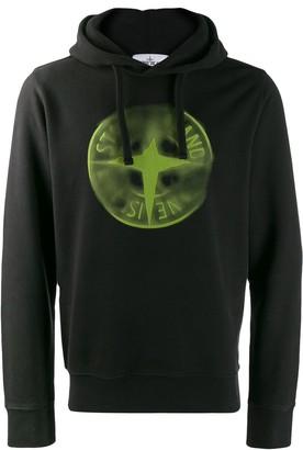 Stone Island faded compass hoodie